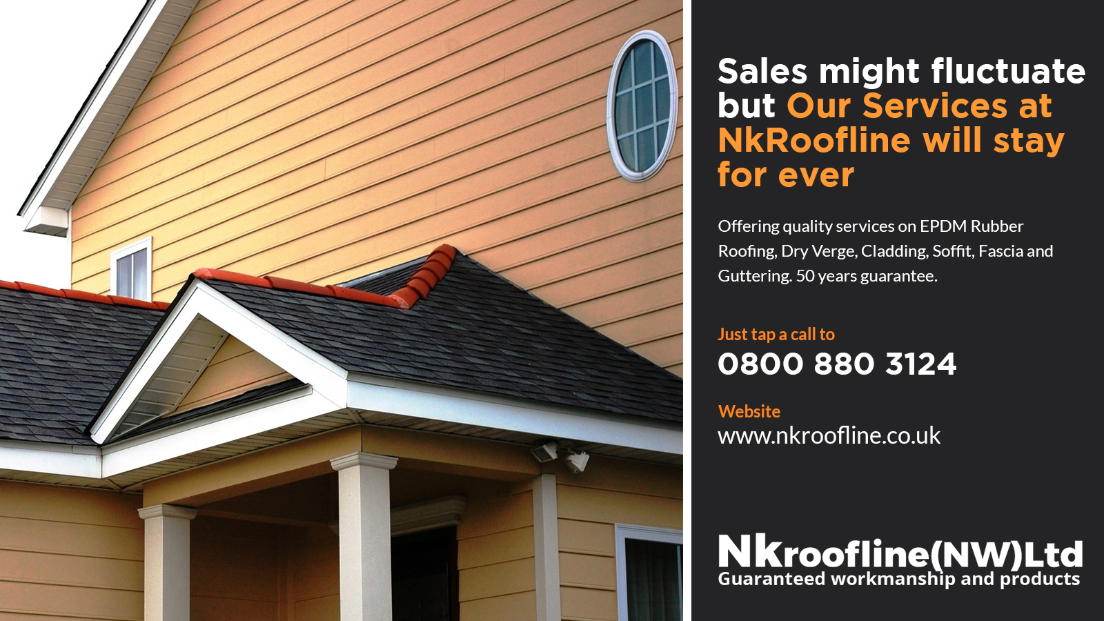 soffits, guttering, cladding, rubber roofing services